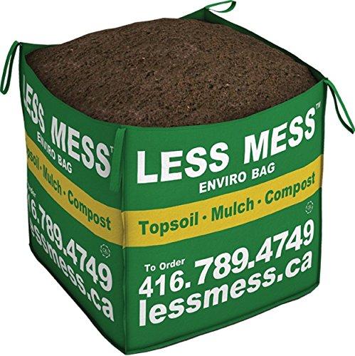 Less Mess Black Bark Mulch, 1 Cubic Yard Bag