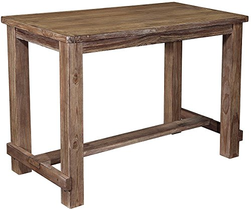 Ashley Furniture Signature Design - Pinnadel Dining Room Counter Table - Rectangular - Vintage Casual - Light Brown
