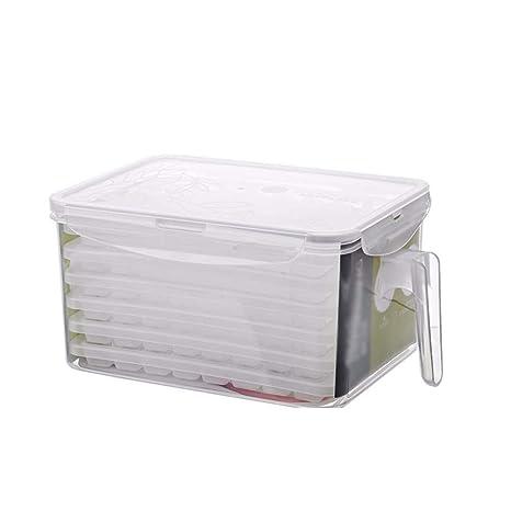 XIAOJUNJUN Moldes Para Helados Caja De Almacenamiento De Molde De Cubo De Hielo Plástico Gran Sello