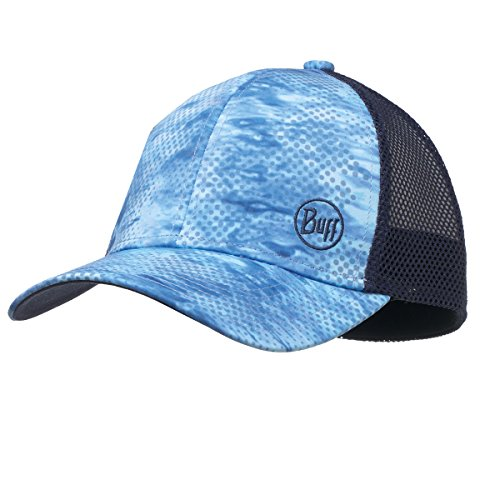 BUFF Unisex 10-4 Snapback Cap, Pelagic Camo Blue, OSFM