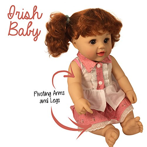 Review Red Haired Cute Dolls 18 Inch Toddler Vinyl Doll for Ages 3+ | Fits American Girl clothing