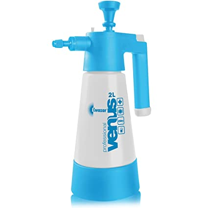 2L Professional Chemical & Solvent Resistant Hand Pump up Pressure Sprayer  with Viton Seals - Comes With TCH Anti-Bacterial Pen!