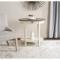 Safavieh American Homes Collection Monica Barley and Oak Oval End Table