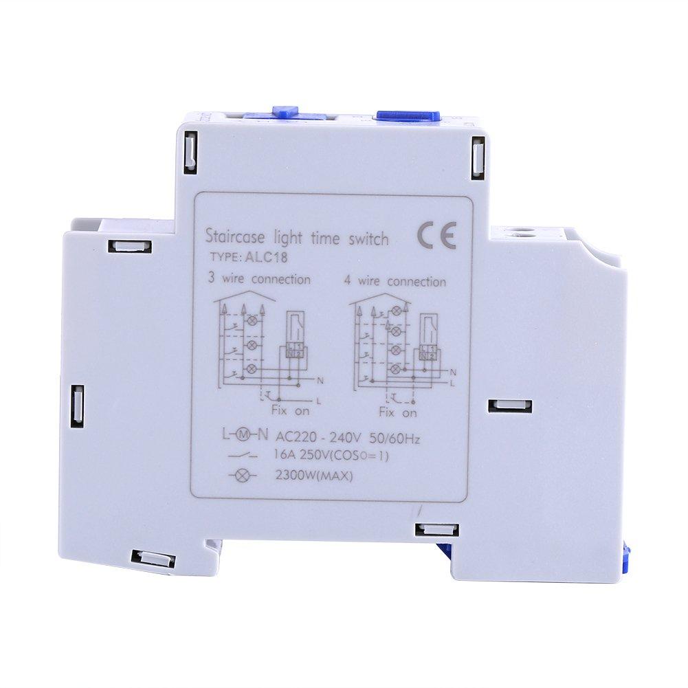Commutateur /électronique de minuterie de commutateur de temps de relais /électronique de courant alternatif Minuterie d/'/éclairage pour /éclairage d/'escalier ou de couloir minuterie dEscalier 220-240V p