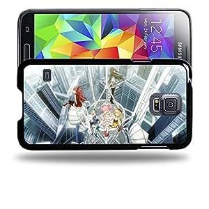Case88 Designs Puella Magi Madoka Magica Madoka, Homura, Sayaka, Mami & Kyoko Protective Snap-on Hard Back Case Cover for Samsung Galaxy S5