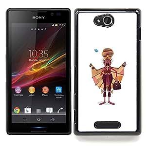 - Sikhism Indian Man Moustache Art Painting/ Duro Snap en el tel????fono celular de la cubierta - Cao - For Sony Xperia C S39h C2305