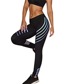 f01b18c2d3fa3 FITTOO Women Laser Colorful Reflective High Waist Fitness Workout legging