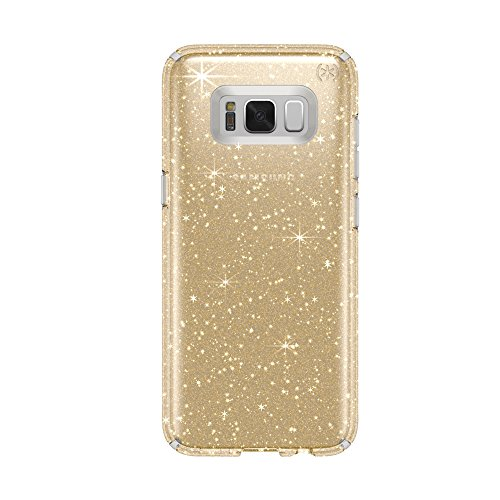 Speck Products Presido Clear + Glitter Cell Phone Case for Samsung Galaxy S8 - Clear With Gold Glitter/Clear (Samsung Galaxy Note 8 Specs And Price)