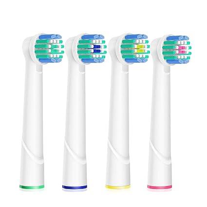 Oral B es compatible con 4 cabezas de cepillo eléctricos de repuesto