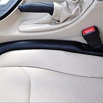 Schwarz 2Pcs Autositz L/ückenf/üller Faux Leder Pad kompatibel Mit C Class Benz W202 W203 W204 W205 AMG