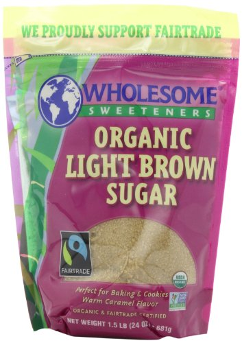 Saine édulcorants Fair Trade Organic Light Brown Sugar, pochettes de 24 onces (paquet de 6)