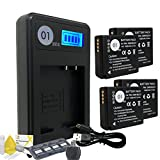 DOT-01 4X Brand Panasonic Lumix DC-ZS70 Batteries and Smart LCD Display Charger for Panasonic Lumix DC-ZS70 4K Digital Camera and Panasonic ZS70 Accessory Bundle for Panasonic BLG10 DMW-BLG10