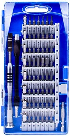 精密ドライバーセット、60-in-1、PC、ラップトップ、タブレット、PDA/携帯電話、眼鏡、時計、カメラ、電子玩具およびその他のアプライアンス用のポータブル修理キット,ブルー