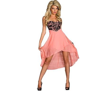 30fb2c7e6d JAUNE Women s Tube Chiffon Skirtout Dress at Amazon Women s Clothing ...