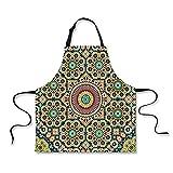 Custom Apron,Moroccan Decor,Aged Old Arabic Design Arabian Cultural Engraving Art History Tourist Attraction,Home Apron.29.5''x26.3''