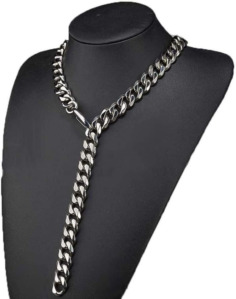 BJZP Hip Hop Halskette Xxxtentacion Adjustable Choker Cuban Link Chain mit Tail Miami 13mm//15mm//17mm//19mm Stainless Steel Curb Rapper Halskette f/ür M/änner