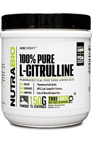NutraBio 100 % Pure L-Citrulline poudre - 150 grammes