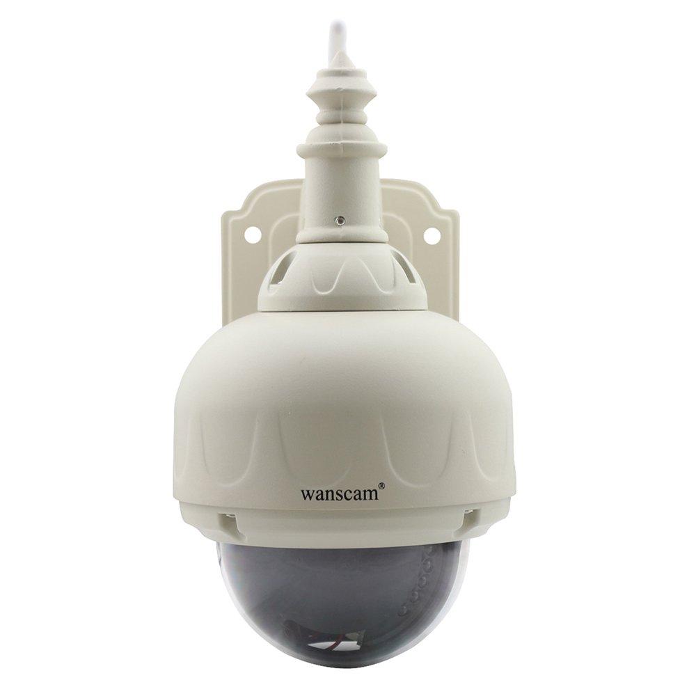 MobileFDL Wanscam Wi-Fi IP Camera 有線 無線LAN 夜間対応 防水 IP66 ドーム型 防犯カメラ ネットワークカメラ B078H63SPJ