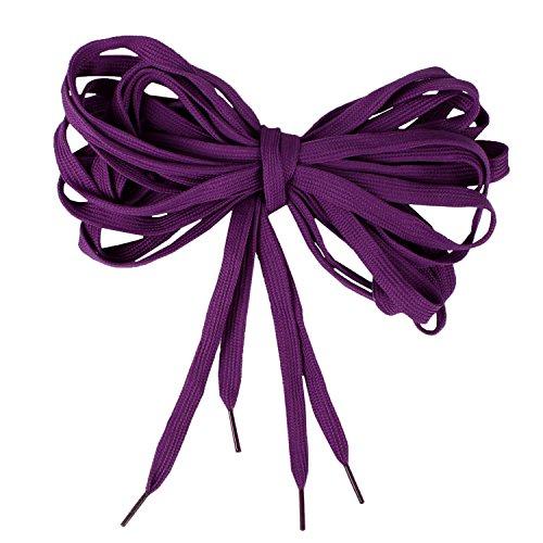 Extra Long Canvas Sneaker Punk Skate Shoes Laces, Purple (Shoe Skateboard Purple)
