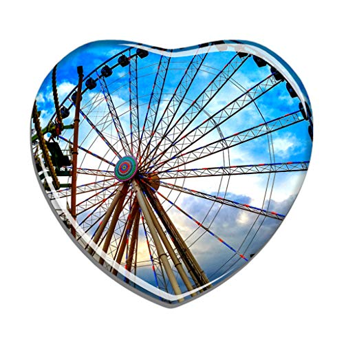 Shopping In Pigeon Forge (Hqiyaols Souvenir USA America The Island in Pigeon Forge Refrigerator Magnet Heart-shaped Crystal Fridge Magnet Sticker Travel Gift Collection)