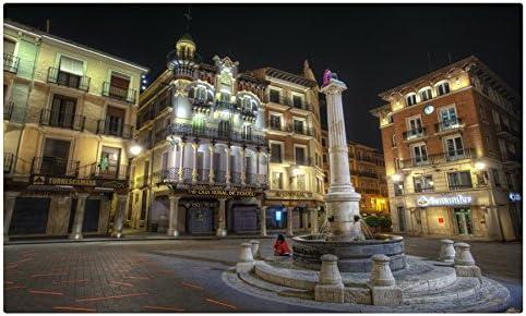 España casas calle noche Pavement Teruel Aragón ciudades Tourist ...