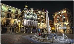 España casas calle noche Pavement Teruel Aragón ciudades Tourist Souvenir muebles & decoración imán imanes de nevera: Amazon.es: Hogar
