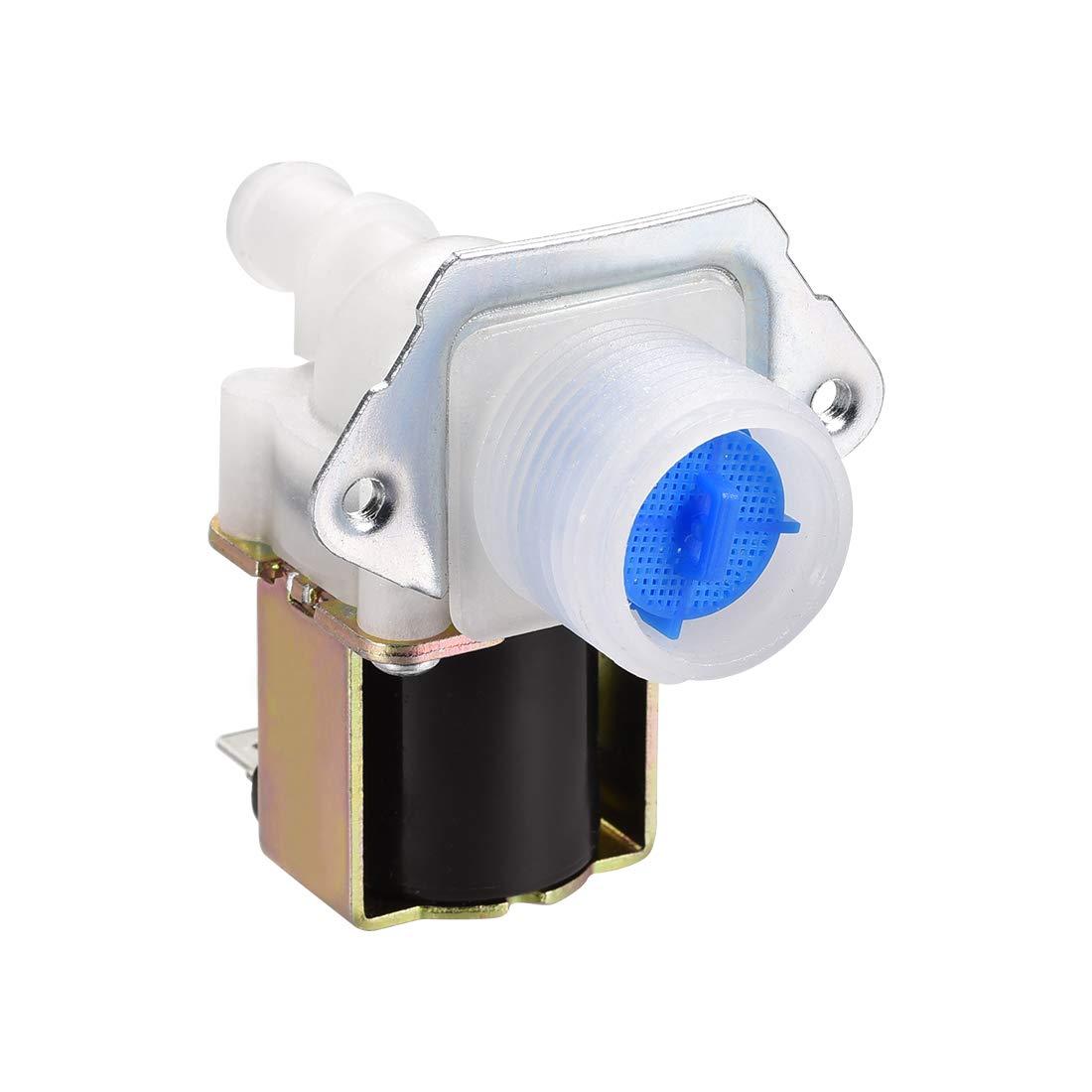 sourcing map G3//4 Kunststoff Wasser Elektrisch Magnetventil Normalerweise Geschlossen N//C Druckwasser Einlassventil DC12V