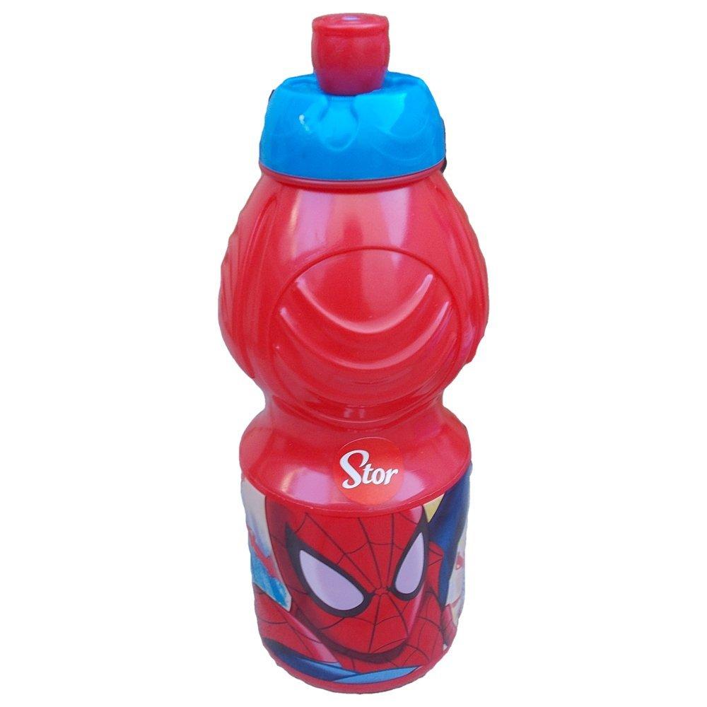 Spiderman –  Bottiglia Borraccia Sport plastico 400 ml, Stor (33432) 733432