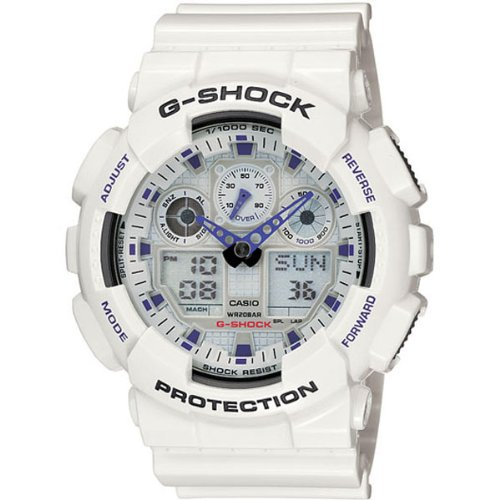 Price comparison product image G-Shock GA100A-7A X-Large Men's White Resin Sport Watch