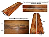 Cocobolo board set #17, 68 inches long x 9.25 inches wide x 0.875 inches