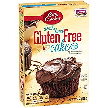 Betty Crocker, Gluten Free, Devils Food Cake Mix, 15oz Box (Pack of 2)