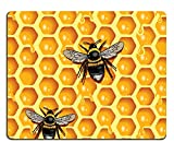 MSD Natural Rubber Gaming Mousepad IMAGE ID: 6119235 Honeycomb and Bees
