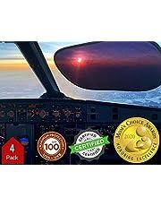 Kinder Fluff Car Window Sunshades (4X) & PilotSet