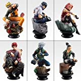 Naruto Shippuden Chess Piece collection R /Six kinds of sets(Pedestal black)