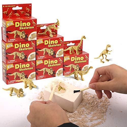 (XX Excavation Dig Kit for Kids Dinosaur Bone Skeleton Toy 6 Different Dino Figures Perfect for)
