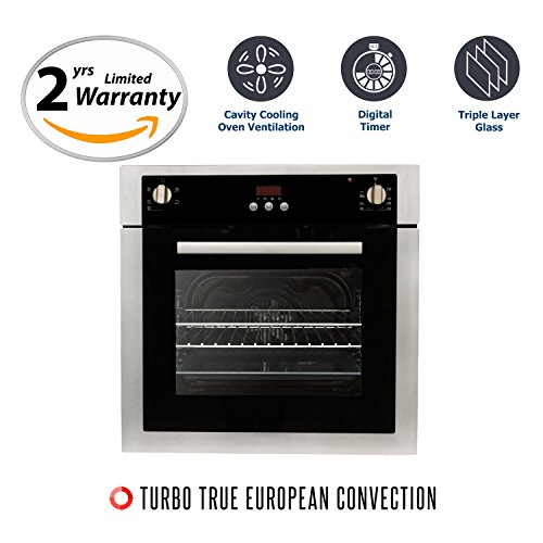Cosmo C51EIX 24 in. Single Electric Wall Oven with Convection
