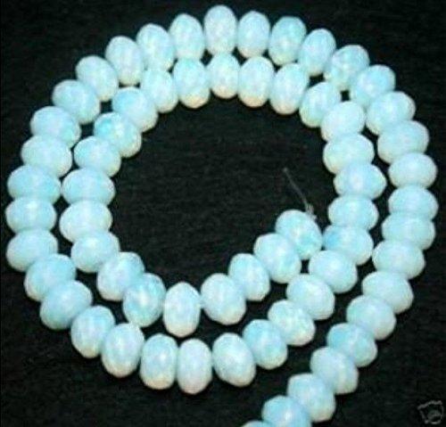 - FidgetKute 5x8mm Faceted Sri Lanka Moonstone Abacus Loose Bead 70pcs