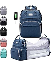Diaper Bag Backpack, Nappy Changing Bags Multifunction Waterproof Travel Back Pack, Large Capacity