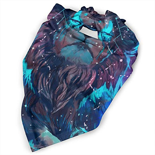 (Pet Scarf Dog Bandana Bibs Triangle Head Scarfs Lion Light Space Accessories for Cats Baby)