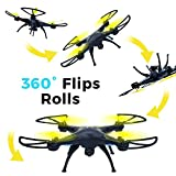 Drones with Camera for Adults and Kids RC Quadcopter Live Video Wi-Fi FPV 720P HD 2.4GHz 6-Axis Gyro Quadcopter Support Cellphone and ipad (Yellow)