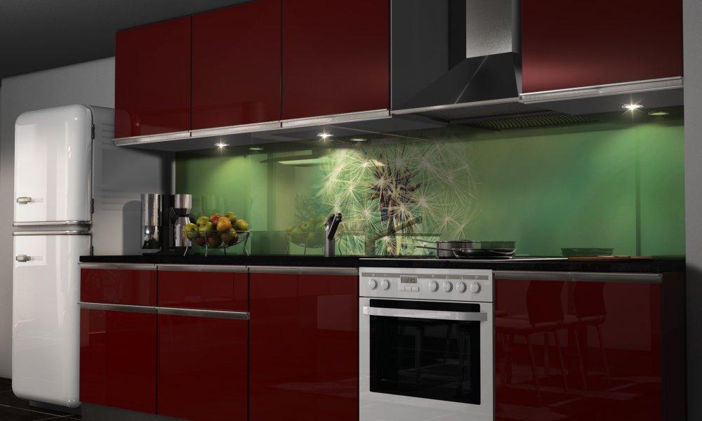 rückwand küche wand bild spritzschutz herd spüle fliesen ersatz ...