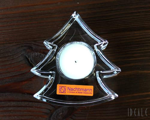 Nachtmann Photophore Haut de Gamme Sapin de Noël, Transparent, Cristal, 9,7 cm, Made in Germany, 62644