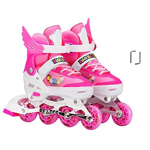 かすかな真珠のようなテープDSFGHE ローラースケート 子供用 女の子 男の子 初心者 男性 女性 調節可能 インライン ローラー スケート 3-15歳 子供 ローラーブレード アイススケート用 L(37 レッド 07230