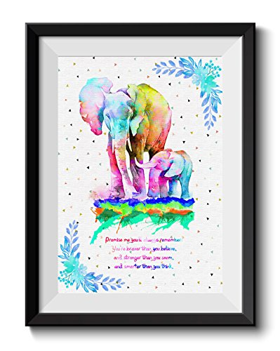 Uhomate Uhomate Colorful Baby Elephant Elephants Art African Elephant Home Canvas Prints Wall