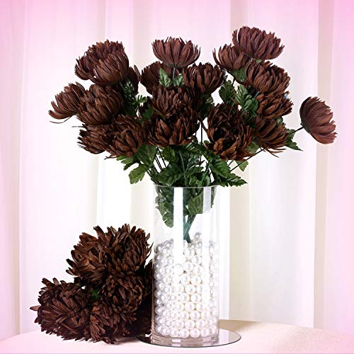 Mum Chocolate - Inna-Wholesale Art Crafts New 56 Large Chocolate Brown MUMS Chrysanthemum Decorating Flowers Bouquets Decorations - Perfect for Any Wedding, Special Occasion or Home Office D?cor