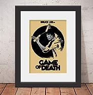 Quadro Decorativo Poster Bruce Lee Filme & Vidro & Paspatur
