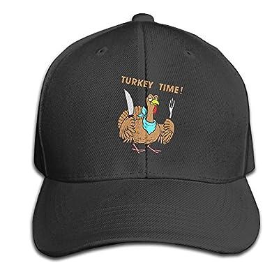 Cute Funny Turkey Thanksgiving Snapback Sandwich Cap Black Baseball Cap Hats Adjustable Peaked Trucker Cap