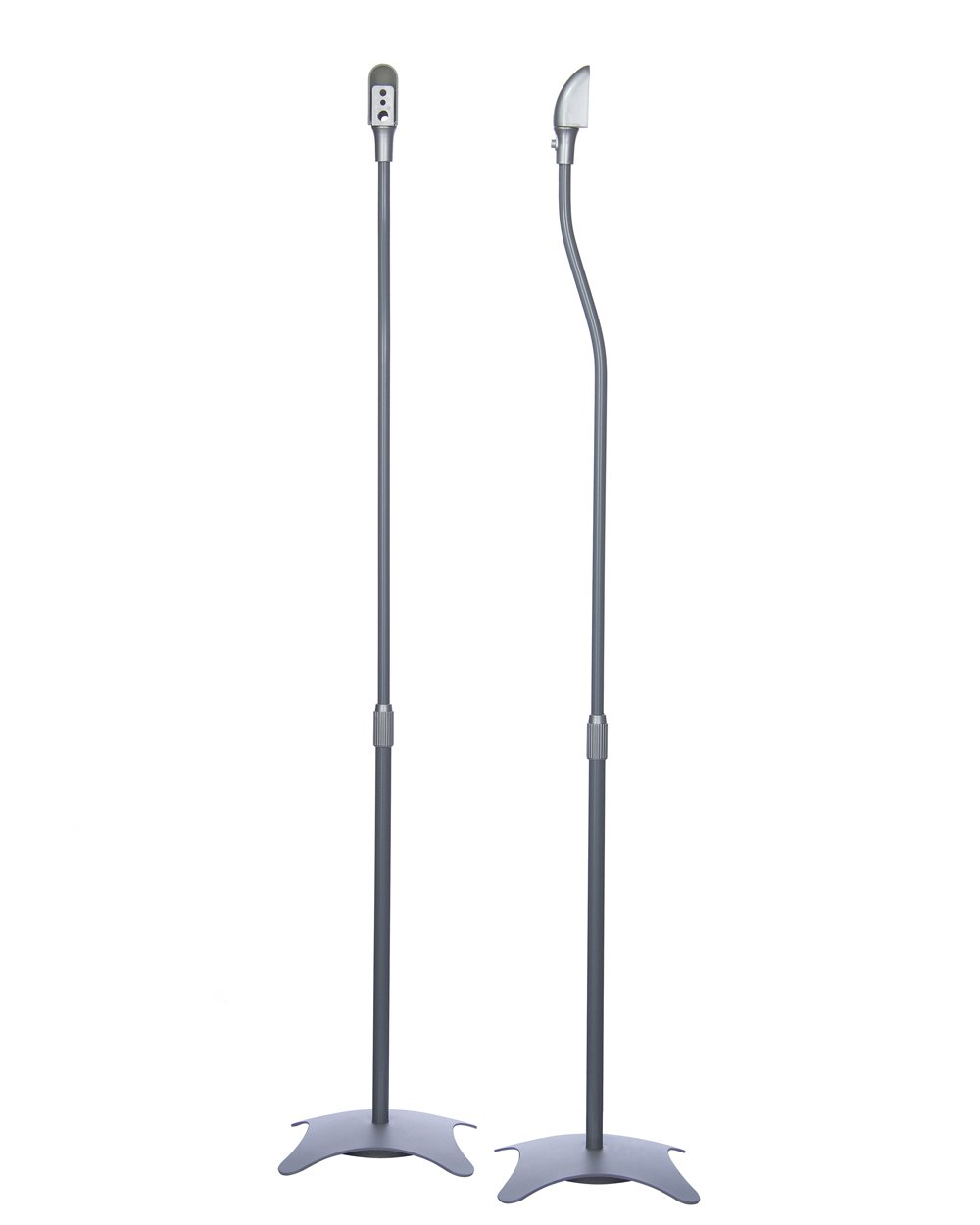 Minify - 1 coppia di supporti, con piedistallo, portata: 4,5 kg l'uno, colore: Argento 5 kg l'uno SSLM-01s
