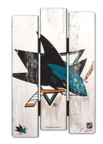 WinCraft NHL San Jose Sharks SignWood Fence Style, Team Color, 11x17 (Nhl Sign)
