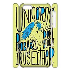 3D Yearinspace Typography iPhone 5C Cases Typography Unicorns For Guys, Iphone 5c Cases For Girls With Designs, [White]